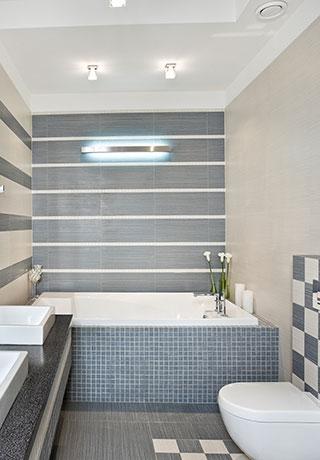 Badezimmer Mosaik Blau